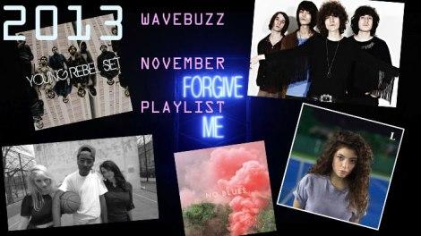 Die Wavebuzz Spotify November Playlist mit Blood Orange, Young Rebel Set, Lorde, Austra, Temples und vielen mehr !!