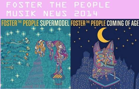 """Verspieltes Artwork x2: links: das Album """"Supermodel"""" (Erscheinungsdatum: 17.03.2014) & rechts: die Single """"Coming Of Age"""" (Erscheinungsdatum: heute, hihi)"""