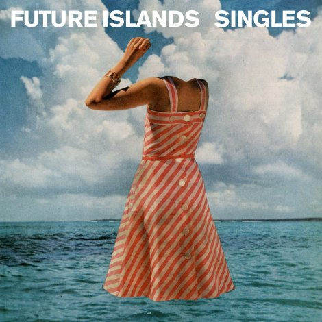 """Meer und Wolken führen zu Kopflosigkeit? Das illustre Cover von Future Islands viertem Album """"Singles""""."""