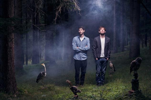 Aus Graubünden: Andrin Berchtold und Gian Reto Camenisch von der Electro-Pop Band FROM KID.