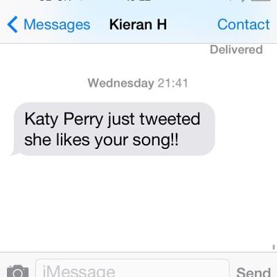 Eine SMS von Kieran Hebden (aka Four Tet). Gepostet auf dem Instagramprofil von @jamie___xx am 08. Mai 2015